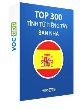 Top 300 tính từ tiếng Tây Ban Nha