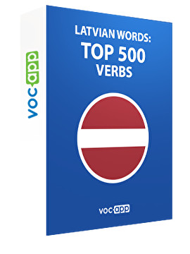 Latvian Words: Top 500 Verbs
