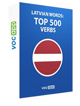 Latvian Words: Top 500 Verbs