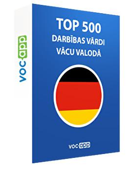 Top 500 darbības vārdi vācu valodā