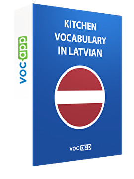Kitchen vocabulary in Latvian