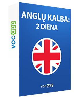 Anglų kalba: 2 diena