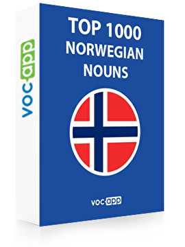 1000 most important Norwegian nouns