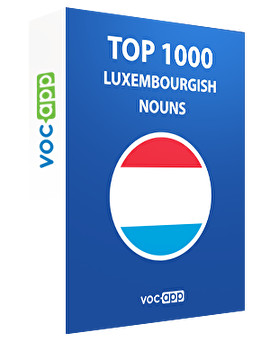 Top 1000 Luxembourgish nouns
