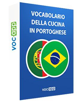 Vocabolario della cucina in portoghese