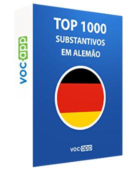 Top 1000 substantivos em alemão