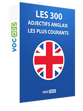 Les 300 adjectifs les plus courants en anglais