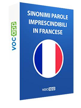 Sinonimi per i vocaboli francesi più utilizzati