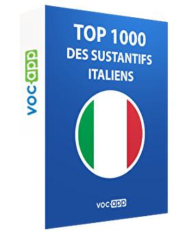 Top 1000 des substantifs italiens