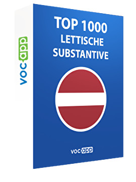 Top 1000 lettische Substantive