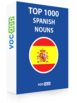 Spanish Words: Top 1000 Nouns