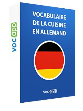 Vocabulaire de la cuisine en allemand
