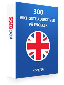 300 viktigste adjektiver på engelsk