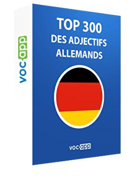Top 300 des adjectifs allemands