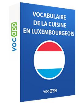 Vocabulaire de la cuisine en luxembourgeois