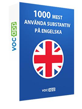 1000 mest använda substantiv på engelska